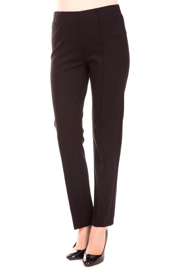 Брюки Frank WalderБрюки<br>Стильные женские брюки Frank Walder черного цвета. Материалы изготовления - вискоза, полиамид, эластан. Наиболее удобны в носке весной и осенью. Брюки на резинке, спереди и сзади штанины украшают декоративные швы. Модель может стать, как деталью делового костюма, так и сойти для каждодневной носки во внеурочное время.<br><br>Размер RU: 48<br>Пол: Женский<br>Возраст: Взрослый<br>Материал: вискоза 70%, эластан 5%, полиамид 25%<br>Цвет: Чёрный