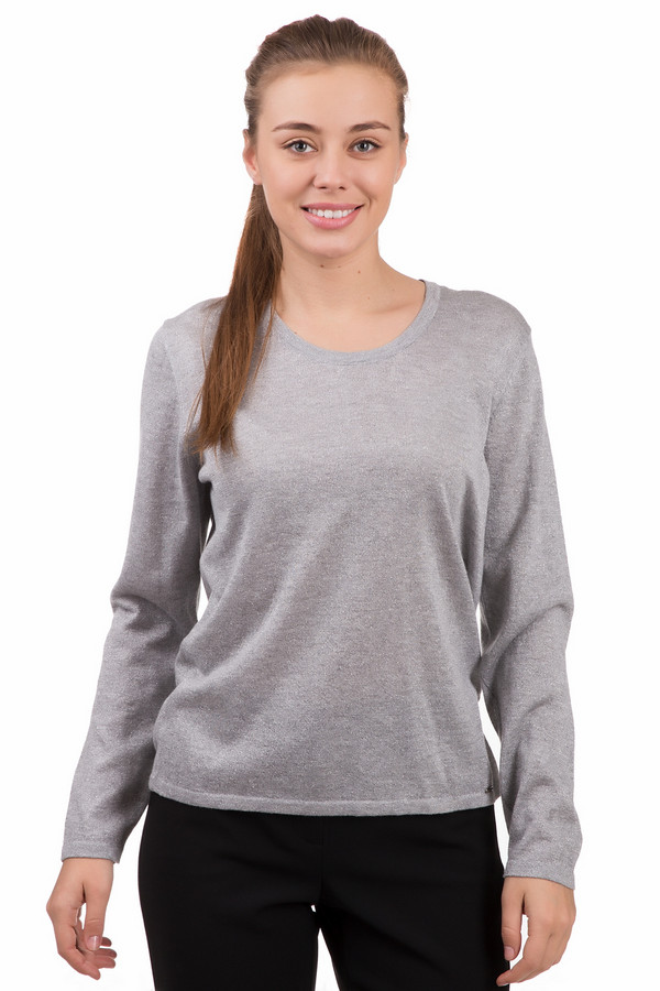 Пуловер LuciaПуловеры<br>Нежный женский пуловер Lucia серого цвета. Изготовлен из полиамида, вискозы и полиэстера. В весенний и осенний сезоны будет наиболее комфортным в носке. Модель с длинными рукавами и неглубоким декольте, открывающим ямочку под шеей и уголки ключиц. Внизу на пуловере под левым рукавом есть небольшая табличка с наименованием бренда.<br><br>Размер RU: 48<br>Пол: Женский<br>Возраст: Взрослый<br>Материал: вискоза 80%, полиамид 9%, полиэстер 11%<br>Цвет: Серый