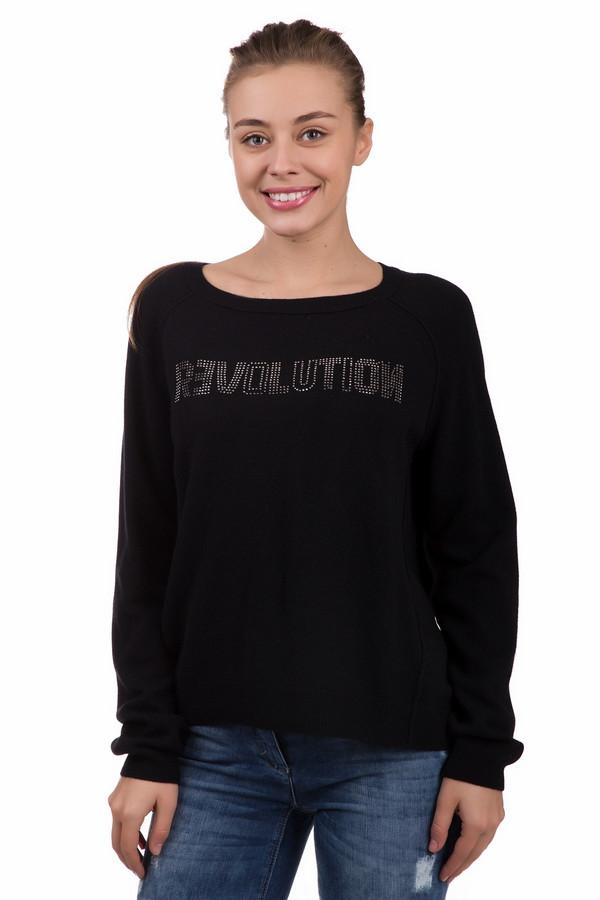 Пуловер OuiПуловеры<br>Броский женские пуловер Oui черного цвета. Выполнен из шерсти и кашемира. В демисезон будет наиболее уместным. Модель дополнена аппликациями из страз: спереди изображено слово revolution с крупными буквами, сзади - символ анархии, стилизованный в сердце. Лучше всего данная модель будет сочетаться с джинсами.<br><br>Размер RU: 52<br>Пол: Женский<br>Возраст: Взрослый<br>Материал: кашемир 10%, шерсть 90%<br>Цвет: Чёрный