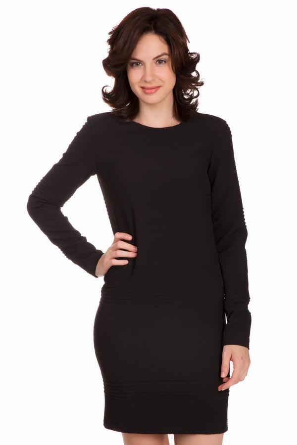 Платье SetПлатья<br>Универсальное женское платье Set черного цвета. Данное изделие было изготовлено из полиэстера, вискозы и эластана. Эта модель предназначена для весны или осени. Платье свободного кроя. Рукава длинные. По длине немного выше колена. Такая вещь является универсальной. Ее можно сочетать с разной обувью и аксессуарами.<br><br>Размер RU: 40<br>Пол: Женский<br>Возраст: Взрослый<br>Материал: эластан 2%, вискоза 29%, полиэстер 69%<br>Цвет: Чёрный