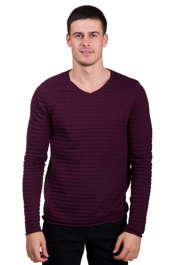 Джемпер PezzoДжемперы<br>Модный мужской джемпер от бренда Pezzo бордового цвета. Это изделие состоит из шерсти и акрила. Такая модель предназначена для осени или весны. Джемпер сидит по фигуре. Дополнен горизонтальными рельефными полосами и V-образным вырезом. Придаст повседневному образу яркости. Лучше всего сочетается с темными классическими брюками.<br><br>Размер RU: 48<br>Пол: Мужской<br>Возраст: Взрослый<br>Материал: шерсть 50%, акрил 50%<br>Цвет: Бордовый