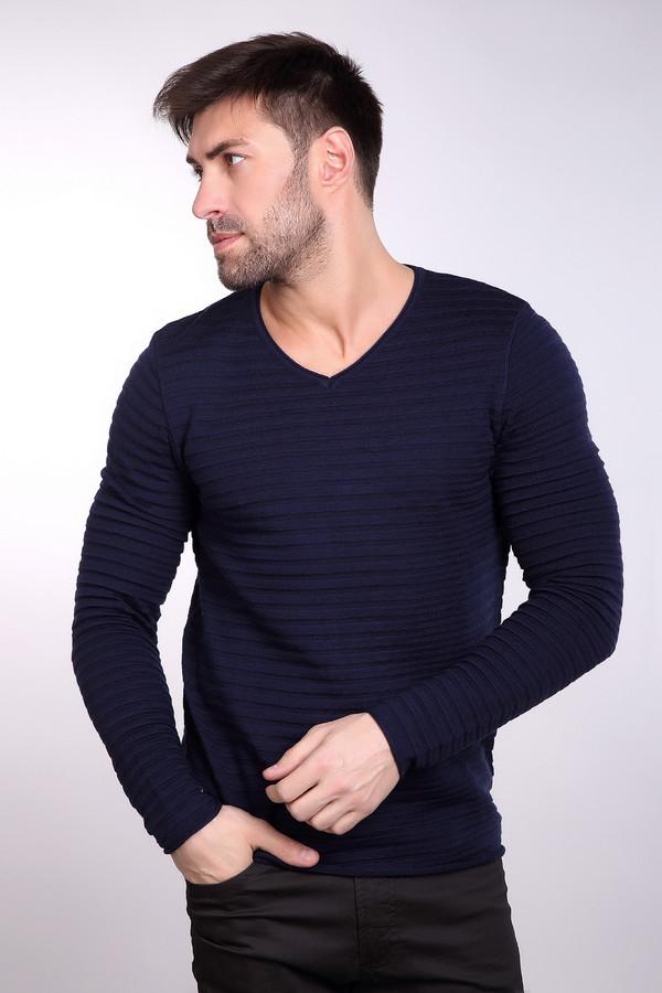 Джемпер PezzoДжемперы<br>Универсальный мужской джемпер от бренда Pezzo синего цвета. Это изделие состоит из шерсти и акрила. Такая модель предназначена для осени или весны. Джемпер сидит по фигуре. Дополнен горизонтальными рельефными полосами и V-образным вырезом. Подойдет тем, кому нравится простота в одежде. Хорошо будет смотреться с темными джинсами.<br><br>Размер RU: 48<br>Пол: Мужской<br>Возраст: Взрослый<br>Материал: шерсть 50%, акрил 50%<br>Цвет: Синий