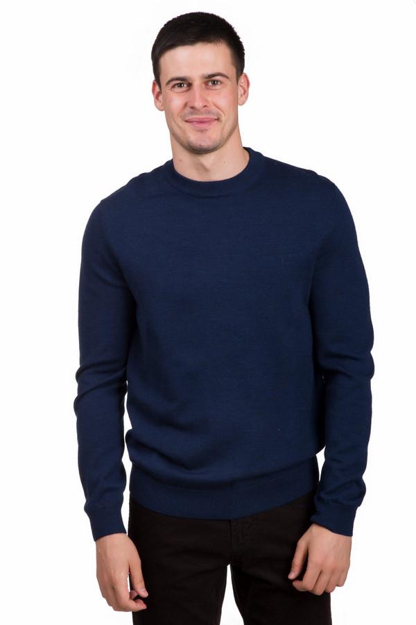 Джемпер PezzoДжемперы<br>Стильный мужской джемпер от бренда Pezzo черного цвета. Это изделие состоит полностью из шерсти. Данная модель предназначена для осени или весны. Джемпер свободного кроя. Какие-либо пестрые детали отсутствуют. Придаст любому образу свежести. Можно носить на работу или учебу. Сочетается как с джинсами, так и с классическими брюками.<br><br>Размер RU: 48<br>Пол: Мужской<br>Возраст: Взрослый<br>Материал: шерсть 100%<br>Цвет: Синий