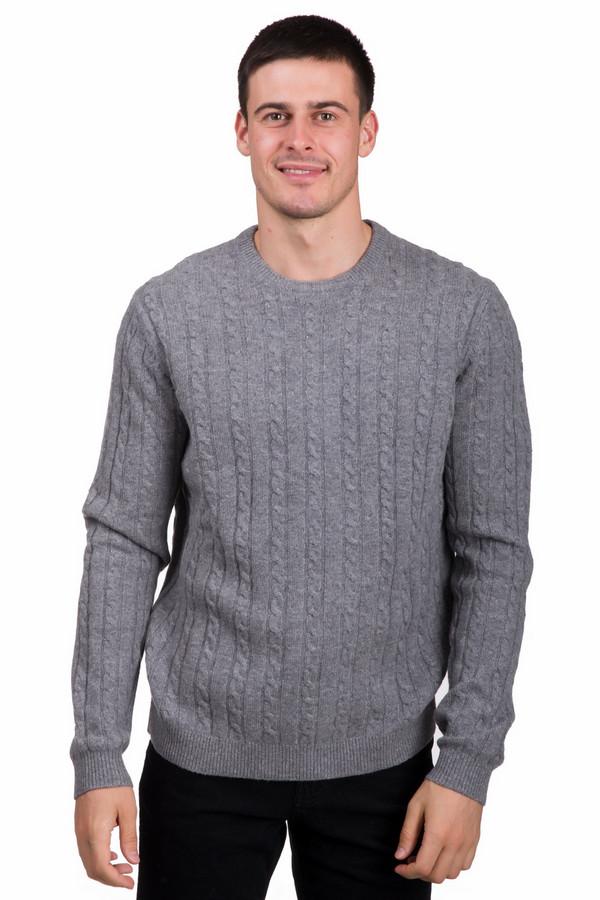 Джемпер PezzoДжемперы<br>Универсальный мужской джемпер от бренда Pezzo серого цвета. Данное изделие состоит полностью из шерсти. Данная модель предназначена для холодной зимней погоды. Джемпер свободного кроя. Дополнен V-образным вырезом и мелкими вязаными косичками. Отличный вариант на каждый день. Привнесет свежесть в холодную пору.<br><br>Размер RU: 56<br>Пол: Мужской<br>Возраст: Взрослый<br>Материал: шерсть 100%<br>Цвет: Серый