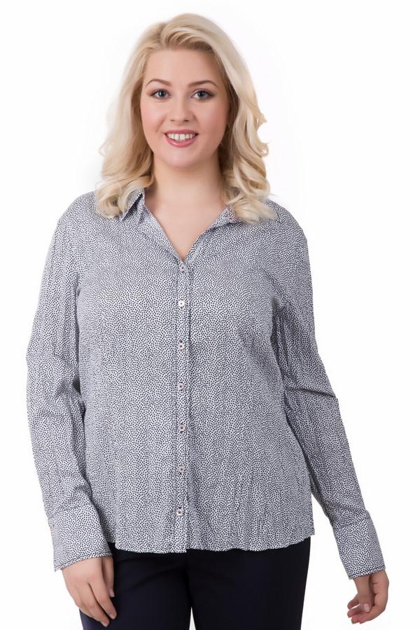 Блузa Gerry WeberБлузы<br>Необычная женская блуза Gerry Weber белого цвета в черную крапинку. Полностью изготовлена из хлопка. Будет удобной и комфортной одеждой в любое время года. Модель застегивается на небольшие пуговки спереди, дополнена отложным воротничком и широкими манжетами. На расстоянии цвет блузы кажется серебристо-серым.<br><br>Размер RU: 48<br>Пол: Женский<br>Возраст: Взрослый<br>Материал: хлопок 100%<br>Цвет: Чёрный