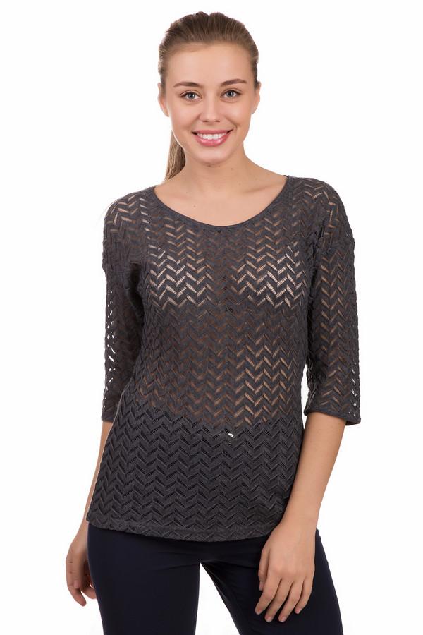 Блузa Betty BarclayБлузы<br>Соблазнительная женская блуза Betty Barclay серого цвета. Модель изготовлена из полиэстера и хлопка. Надевать ее стоит в весеннюю или осеннюю пору. У блузы женственный округлый вырез горловины, рукава три четверти. Главным украшением изделия служит специфическая фактура ткани: полупрозрачная с зигзагообразным узором.<br><br>Размер RU: 46<br>Пол: Женский<br>Возраст: Взрослый<br>Материал: хлопок 35%, полиэстер 65%<br>Цвет: Серый