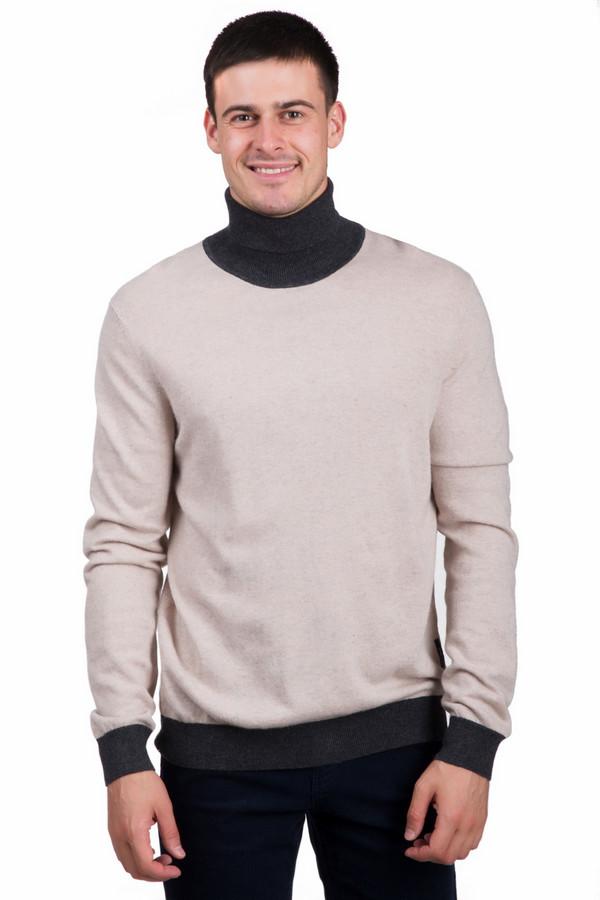 Джемпер PezzoДжемперы<br>Оригинальный мужской джемпер от бренда Pezzo бежевого цвета с серыми деталями. Это изделие состоит из вискозы, полиамида, кашемира, ангоры и шерсти. Данная модель предназначена для зимней погоды. Джемпер немного облегает фигуру. Дополнена серыми вставками на воротнике и на рукавах. Ворот надежно прикрывает шею. Подойдет для похода на работу или учебу. Такая вещь является незаменимой для холодной погоды.<br><br>Размер RU: 58<br>Пол: Мужской<br>Возраст: Взрослый<br>Материал: вискоза 33%, хлопок 18%, полиамид 23%, шерсть 18%, кашемир 4%, ангора 4%<br>Цвет: Серый