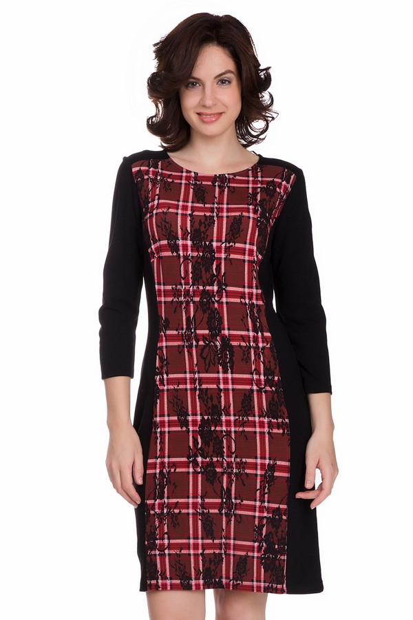 Платье Betty BarclayПлатья<br>Модное женское платье от бренда Betty Barclay черного цвета с белыми, красными и бордовыми элементами. Это изделие состоит из вискозы, полиэстера и эластана. Данная модель предназначена для весны или осени. Платье дополнено клеточным рисунком и кружевным орнаментом. Рукава слегка укороченные. По длине немного выше колен. Отлично подойдет для праздничного мероприятия.<br><br>Размер RU: 52<br>Пол: Женский<br>Возраст: Взрослый<br>Материал: эластан 3%, вискоза 85%, полиэстер 12%<br>Цвет: Разноцветный
