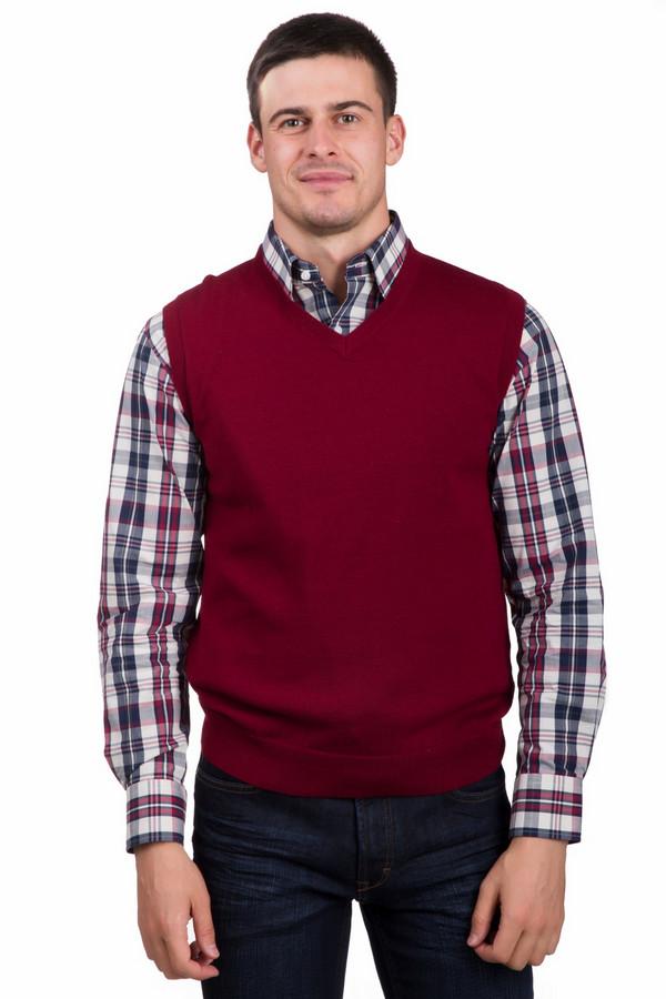 Жилет PezzoЖилеты<br>Оригинальный мужской жилет от бренда Pezzo красного цвета. Это изделие состоит полностью из шерсти. Данная модель предназначена для осени или весны. Жилет слегка облегает фигуру. Идеально сочетается с однотонными или разноцветными (желательно с расцветкой теплых тонов) вещами. Придаст образу яркости и оригинальности.<br><br>Размер RU: 48<br>Пол: Мужской<br>Возраст: Взрослый<br>Материал: шерсть 100%<br>Цвет: Красный
