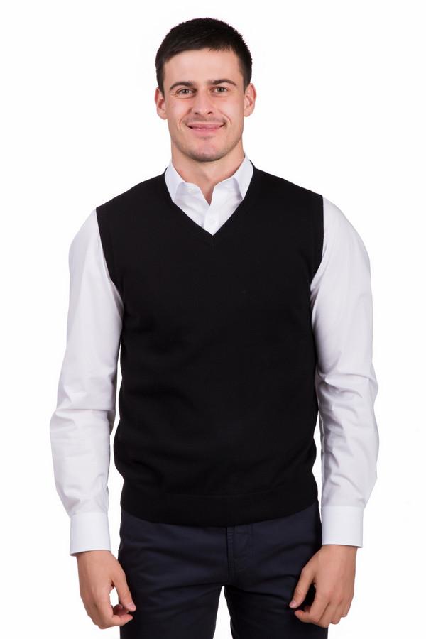 Жилет PezzoЖилеты<br>Практичный мужской жилет от бренда Pezzo черного цвета. Это изделие состоит полностью из шерсти. Данная модель предназначена для осени или весны. Жилет слегка облегает фигуру. Идеально сочетается с однотонными или разноцветными рубашками и классическими темными брюками. Такая вещь является незаменимой в холодную пору.<br><br>Размер RU: 46<br>Пол: Мужской<br>Возраст: Взрослый<br>Материал: шерсть 100%<br>Цвет: Чёрный