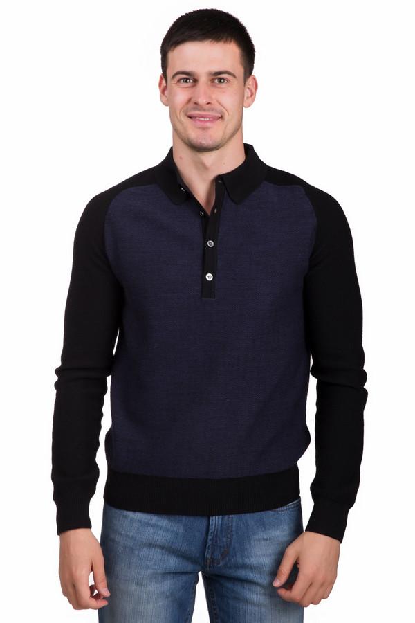 Джемпер PezzoДжемперы<br>Стильный мужской джемпер от бренда Pezzo черного цвета с синими элементами. Данное изделие состоит полностью из шерсти. Такая модель предназначена для осени или весны. Джемпер немного облегает фигуру. Дополнен белыми пуговицами возле ворота. Рукава и спинка выполнены в черном матовом цвете, а перед в темно-синем. Оптимальное решение на каждый день.<br><br>Размер RU: 46<br>Пол: Мужской<br>Возраст: Взрослый<br>Материал: шерсть 100%<br>Цвет: Синий