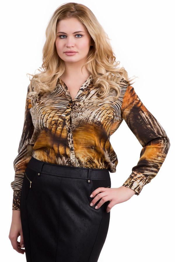 Блузa LebekБлузы<br>Красивая женская блуза Lebek в оранжевых, черных и белых тонах. Модель полностью изготовлена из полиэстера. Надевать ее стоит в весеннюю или осеннюю пору. Блуза застегивается спереди на пуговицы. Рукава дополнены небольшими манжетами. Одежда животной расцветки придает женщине особого очарования.<br><br>Размер RU: 52<br>Пол: Женский<br>Возраст: Взрослый<br>Материал: полиэстер 100%<br>Цвет: Разноцветный