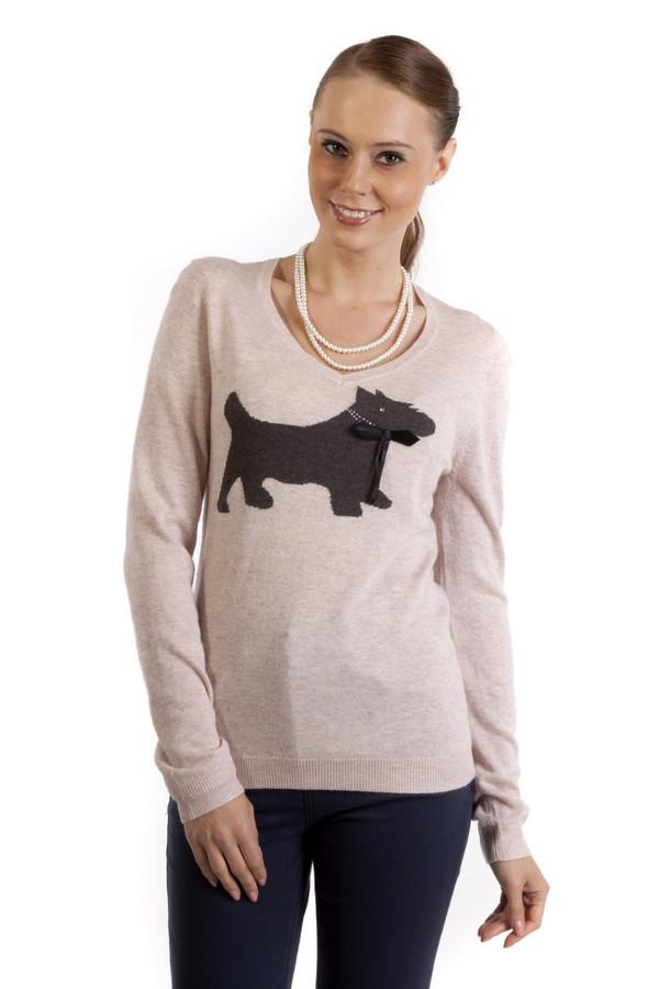 Пуловер PezzoПуловеры<br>Стильный пуловер Pezzo представлен в двух пастельных оттенках, белый и нежно-розовый. Изделие дополнено v-образным вырезом и декорирована рисунком в виде собачки. Ворот, манжеты и нижний кант оформлены трикотажной резинкой. Пуловер выполнен из высококачественного материала приятного на ощупь.<br><br>Размер RU: 48<br>Пол: Женский<br>Возраст: Взрослый<br>Материал: полиэстер 30%, нейлон 20%, шерсть 5%, вискоза 40%, ангора 5%<br>Цвет: Серый