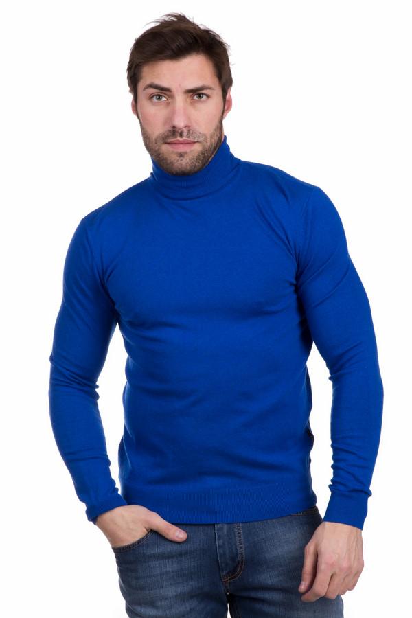 Джемпер PezzoДжемперы<br>Нестандартный мужской джемпер Pezzo яркого синего цвета. Изделие выполнено из полиамида, вискозы, шерсти. В зимнее время года эта одежда будет наиболее уместной. Облегающий силуэт, длинные рукава, высокий воротник прикрывающий горло. Эта модель отлично подойдет для любителей ярких красок. Дополнена резинкой по низу изделия и на манжетах.<br><br>Размер RU: 56<br>Пол: Мужской<br>Возраст: Взрослый<br>Материал: полиамид 35%, вискоза 46%, шерсть 19%<br>Цвет: Синий