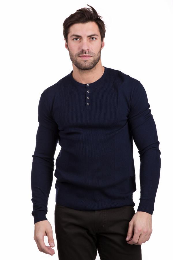 Джемпер PezzoДжемперы<br>Функциональный мужской джемпер Pezzo темно-синего цвета. Изделие выполнено из полиамида, вискозы и шерсти. Более всего подходит для носки в демисезон. У модели длинные рукава, горловина лишена воротника и украшена застежкой на четырех простых пуговицах. Такой джемпер можно надевать с брюками костюма или повседневными джинсами.<br><br>Размер RU: 58<br>Пол: Мужской<br>Возраст: Взрослый<br>Материал: полиамид 35%, вискоза 46%, шерсть 19%<br>Цвет: Синий