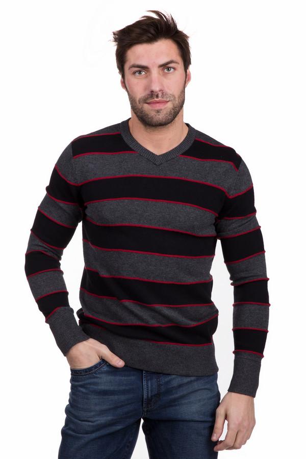 Джемпер PezzoДжемперы<br>Универсальный мужской джемпер Pezzo в красных, черных и серых цветах. В состав изделия входят полиамид, вискоза и шерсть. Будет наиболее комфортным в весенний или осенний сезон. Джемпер украшен серыми и черными горизонтальными полосами - широкими, и яркими красными полосочками между ними - узкими.<br><br>Размер RU: 54<br>Пол: Мужской<br>Возраст: Взрослый<br>Материал: вискоза 55%, полиамид 22%, шерсть 23%<br>Цвет: Разноцветный