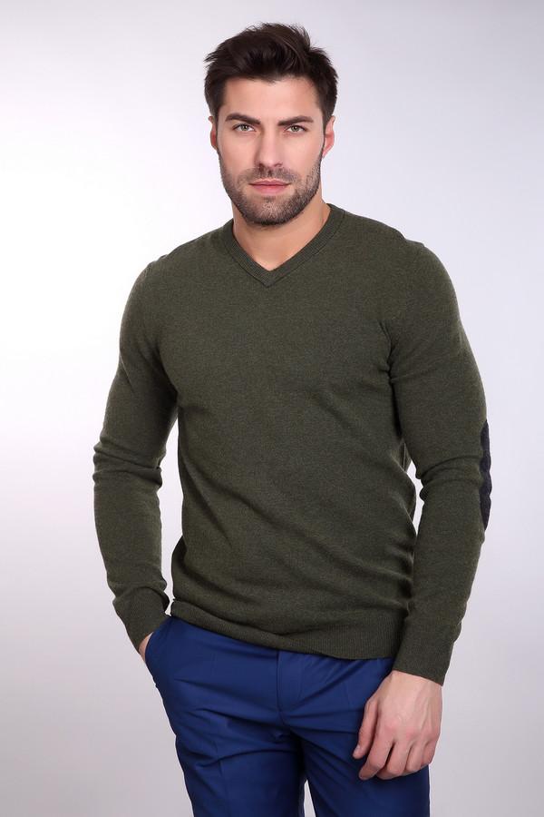Джемпер PezzoДжемперы и Пуловеры<br>Привлекательный мужской джемпер Pezzo темно-зеленого цвета. В состав изделия входят полиамид и шерсть мерино. Будет наиболее уместным в весенний или осенний сезон. Джемпер сидит по фигуре, горловина декорирована кантом того же цвета, что и основная материя. Лучше всего сочетается с классическими джинсами.<br><br>Размер RU: 52<br>Пол: Мужской<br>Возраст: Взрослый<br>Материал: полиамид 20%, шерсть мерино 80%<br>Цвет: Серый