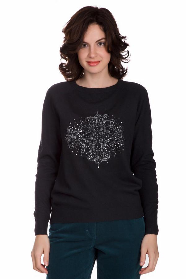 Пуловер PezzoПуловеры<br>Практичный женский пуловер от бренда Pezzo черного цвета. Это изделие состоит из нейлона, полиэстера, шерсти, вискозы и ангоры. Такая модель предназначена для осеннего и весеннего сезонов. Пуловер свободного кроя. Дополнен резинками на рукавах. Украшен красивым рисунком из серебристых камней. Отличное решение на каждый день.<br><br>Размер RU: 48<br>Пол: Женский<br>Возраст: Взрослый<br>Материал: полиэстер 30%, нейлон 20%, шерсть 5%, вискоза 40%, ангора 5%<br>Цвет: Чёрный