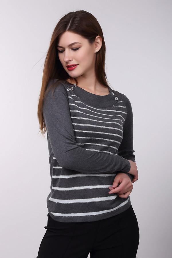 Пуловер PezzoПуловеры<br>Молодежный женский пуловер Pezzo, сочетающий серый и белый цвета. В состав изделия входят вискоза и нейлон. Весной или осенью наиболее уместен в носке. Пуловер притален, спереди украшен горизонтальными декоративными белыми линиями на сером фоне. На горловине нашиты четыре крупные прозрачные пуговицы.<br><br>Размер RU: 50<br>Пол: Женский<br>Возраст: Взрослый<br>Материал: вискоза 70%, нейлон 30%<br>Цвет: Разноцветный