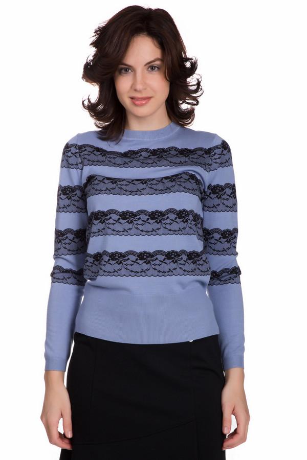 Пуловер PezzoПуловеры<br>Элегантный женский пуловер от бренда Pezzo синего цвета с черными элементами. Этот образец состоит из нейлона и вискозы. Изделие можно носить осенью или весной. Пуловер свободного кроя. Украшен кружевными горизонтальными вставками. Подойдет для повседневного образа. Придаст образу яркости и женственности.<br><br>Размер RU: 46<br>Пол: Женский<br>Возраст: Взрослый<br>Материал: вискоза 80%, нейлон 20%<br>Цвет: Чёрный