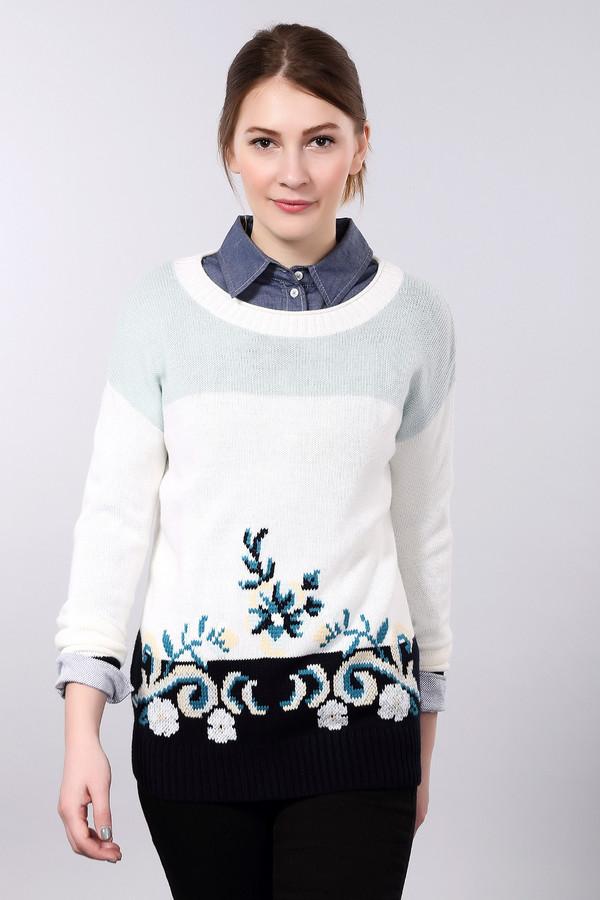Пуловер PezzoПуловеры<br>Практичный женский пуловер от бренда Pezzo белого цвета с черными, бежевыми, голубыми и синими элементами. Это изделие состоит из шерсти и акрила. Данная модель предназначена для осеннего и весеннего сезона. Пуловер свободного кроя. Дополнен цветным орнаментом. Придаст простому образу нежности. Практичное решение на каждый день.<br><br>Размер RU: 52<br>Пол: Женский<br>Возраст: Взрослый<br>Материал: шерсть 15%, акрил 85%<br>Цвет: Разноцветный