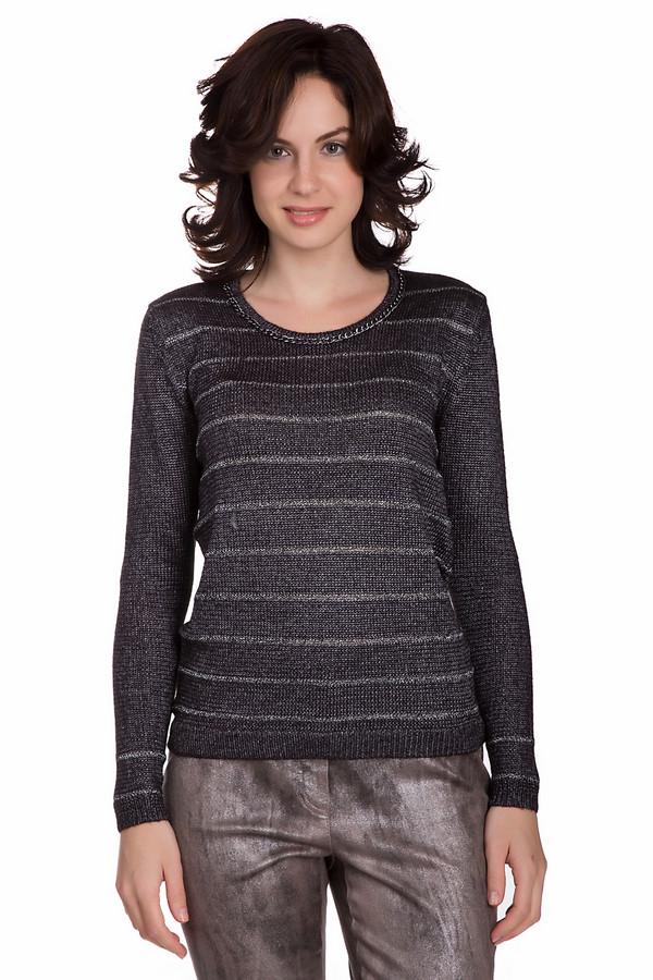 Пуловер PezzoПуловеры<br>Стильный женский пуловер от бренда Pezzo серебристого цвета с серыми деталями. Это изделие состоит из полиэстера, акрила и металла. Такая вещь создана для осеннего и весеннего сезонов. Пуловер свободного кроя. Дополнен серебристыми горизонтальными вставками. Украшен серебристой цепочкой на вороте. Стильное решение для любого мероприятия.<br><br>Размер RU: 42<br>Пол: Женский<br>Возраст: Взрослый<br>Материал: полиэстер 72%, акрил 26%, металл 2%<br>Цвет: Серый