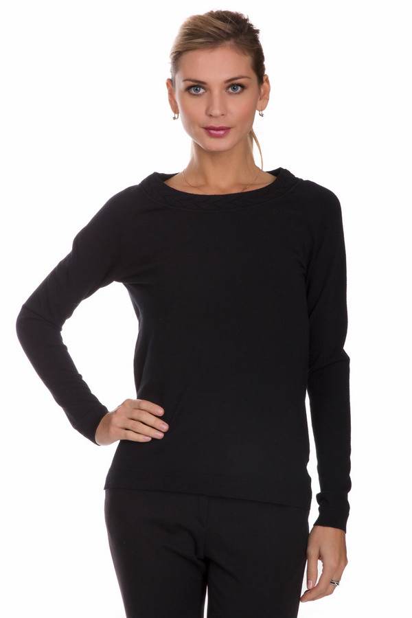 Пуловер PezzoПуловеры<br>Универсальный женский пуловер от бренда Pezzo черного цвета. Эта модель состоит из вискозы и полиэстера. Такое изделие необходимо носить осенью или весной. Пуловер свободного кроя. Сзади дополнен маленькими пуговичками в тон. Простой и лаконичный вариант на каждый день. Можно носить с классическими брюками разных фасонов и джинсами.<br><br>Размер RU: 46<br>Пол: Женский<br>Возраст: Взрослый<br>Материал: вискоза 80%, полиэстер 20%<br>Цвет: Чёрный