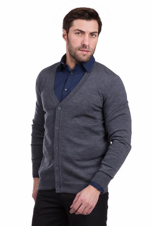 Кардиган PezzoКардиганы<br>Изящный мужской кардиган Pezzo серого цвета. Выполнен полностью из чистой шерсти. В весенний или осенний сезон будет наиболее актуальным дополнением к костюму. Кардиган отлично смотрится с мужскими рубашками: глубокий вырез открывает воротник одежды, надеваемой под модель. Дополняет строгое изделие застежка на пяти пуговицах.<br><br>Размер RU: 46<br>Пол: Мужской<br>Возраст: Взрослый<br>Материал: шерсть 100%<br>Цвет: Серый