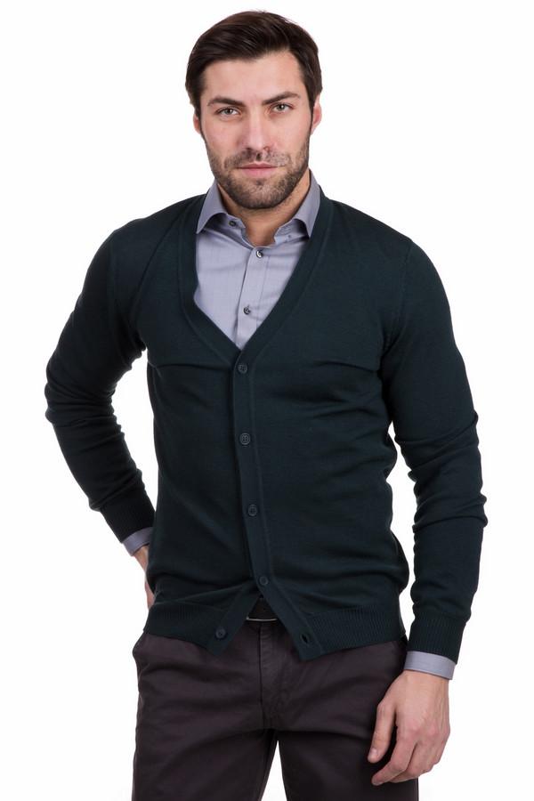 Кардиган PezzoКардиганы<br>Необычный мужской кардиган Pezzo зеленого цвета. Модель полностью выполнена из шерсти. Будет самым уместным выбором в демисезон. Кардиган хорошо будет сочетаться как с темными, так и со светлыми джинсами или классическими брюками. А вот рубашки под него лучше подбирать светлые или чисто белые. Дополняет модель застежка.<br><br>Размер RU: 48<br>Пол: Мужской<br>Возраст: Взрослый<br>Материал: шерсть 100%<br>Цвет: Зелёный