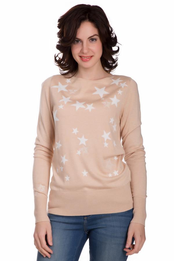 Пуловер PezzoПуловеры<br>Практичный женский пуловер от бренда Pezzo бежевого цвета с белыми элементами. Эта модель была сделана из вискозы и нейлона. Изделие необходимо носить осенью или весной. Пуловер свободного кроя. Украшен изображением звезд спереди. Отличный вариант на каждый день. Добавит легкости и оригинальности образу.<br><br>Размер RU: 54<br>Пол: Женский<br>Возраст: Взрослый<br>Материал: вискоза 70%, нейлон 30%<br>Цвет: Белый