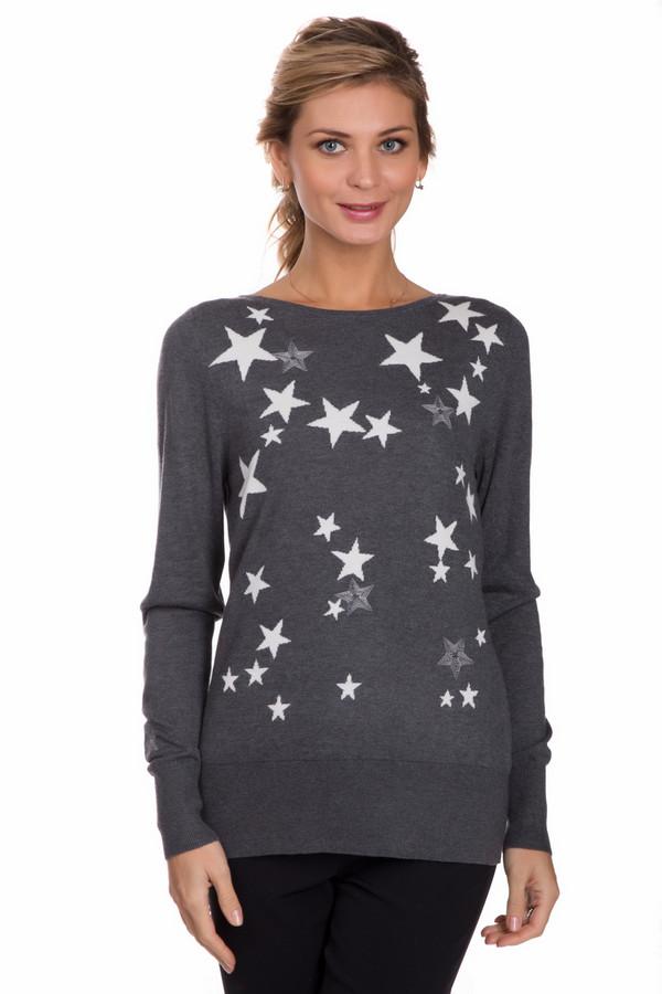 Пуловер PezzoПуловеры<br>Оригинальный женский пуловер от бренда Pezzo серого цвета с белыми деталями. Эта модель была сделана из вискозы и нейлона. Изделие создано для осени или весны. Пуловер немного облегает фигуру. Украшен мелкими звездочками и золотистыми камнями спереди. Практичное и стильное решение для повседневного образа.<br><br>Размер RU: 44<br>Пол: Женский<br>Возраст: Взрослый<br>Материал: вискоза 70%, нейлон 30%<br>Цвет: Белый