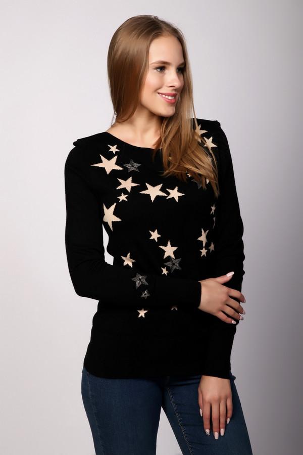 Пуловер PezzoПуловеры<br>Практичный женский пуловер от бренда Pezzo черного цвета с бежевыми деталями. Эта модель была сделана из вискозы и нейлона. Изделие создано для осени или весны. Пуловер немного облегает фигуру. Украшен мелкими звездочками и золотистыми камнями спереди. Можно сочетать с чем угодно. Это универсальное решение на каждый день.<br><br>Размер RU: 44<br>Пол: Женский<br>Возраст: Взрослый<br>Материал: вискоза 70%, нейлон 30%<br>Цвет: Бежевый