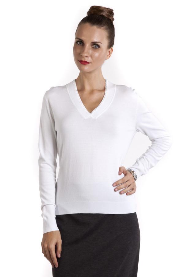 Пуловер PezzoПуловеры<br>Однотонный пуловер Pezzo приталенного кроя выполнен в белом цвете. Изделие дополнено v-образным воротом и длинными рукавами. Женственный пуловер идеально подойдет к повседневному образу.<br><br>Размер RU: 48<br>Пол: Женский<br>Возраст: Взрослый<br>Материал: вискоза 82%, нейлон 18%<br>Цвет: Белый