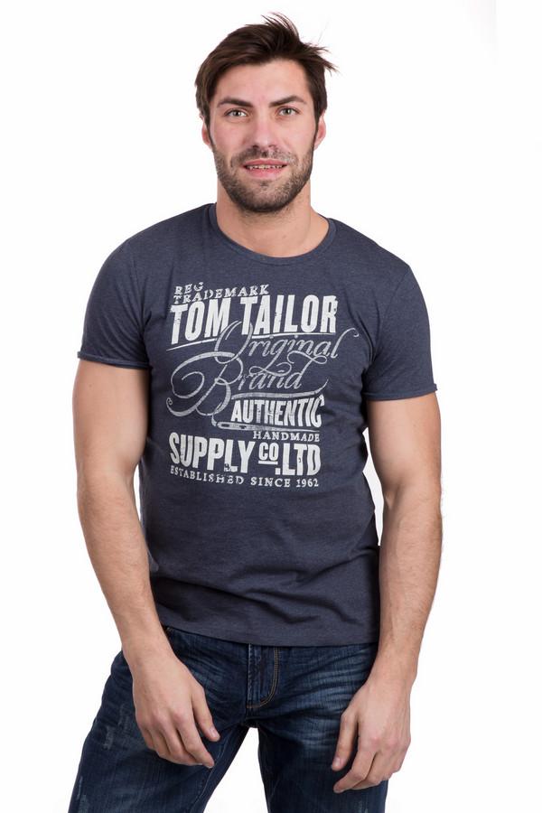 Футболкa Tom TailorФутболки<br>Молодежная мужская футболка Tom Tailor серого цвета. Изделие состоит их хлопка и полиэстера. В летний сезон такая футболка будет лучшим выбором. У модели короткий рукав, спереди ее украшает принт: надписи белым. Лучше всего будет сочетаться с джинсами или шортами, подойдет мужчинам, предпочитающим спокойные цвета в одежде.<br><br>Размер RU: 44-46<br>Пол: Мужской<br>Возраст: Взрослый<br>Материал: хлопок 60%, полиэстер 40%<br>Цвет: Белый