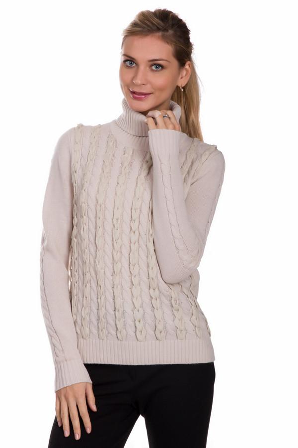 Водолазка PezzoВодолазки<br>Практичная женская водолазка от бренда Pezzo бежевого цвета. Это изделие было изготовлено из акрила и шерсти. Данная модель предназначена для холодной зимней погоды. Водолазка украшена вертикальными вязанными косичками спереди. Эта вещь является практичной и стильной. Ее можно носить с брюками или юбками любых фасонов и расцветок.<br><br>Размер RU: 52<br>Пол: Женский<br>Возраст: Взрослый<br>Материал: шерсть 15%, акрил 85%<br>Цвет: Бежевый