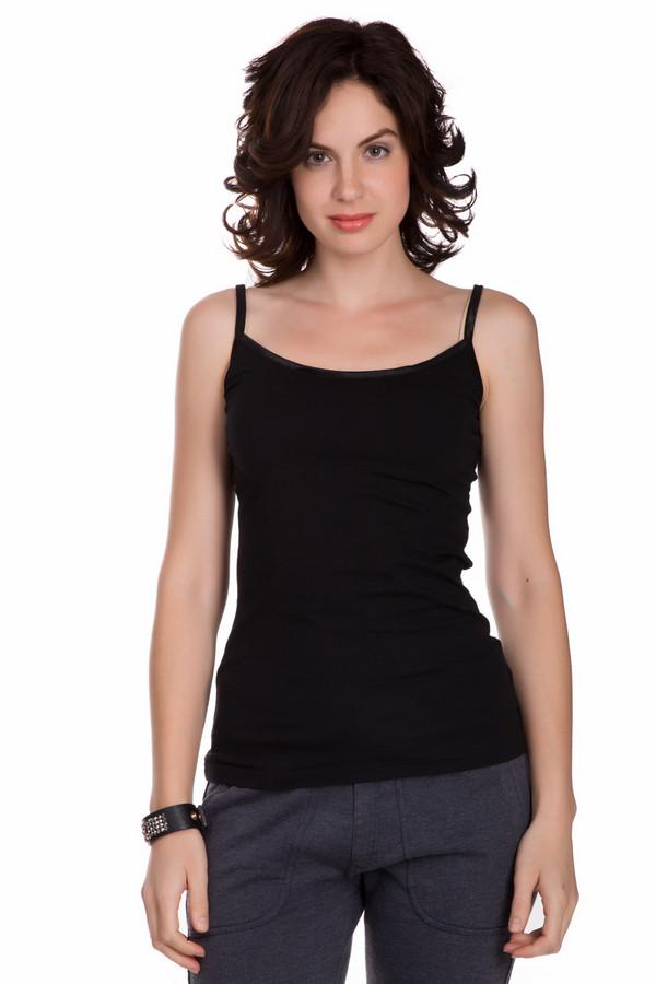 Топ Tom TailorТопы<br>Практичный женский топ Tom Tailor черного цвета. Это изделие состоит из хлопка и эластана. Данная модель предназначена для теплой летней погоды. Топ подчеркивает линию талии. Можно носить с брюками разных фасонов, юбками разной длины. Подойдет для похода на пляж. Также можно надеть для вечерней прогулки с кофтой сверху.<br><br>Размер RU: 42-44<br>Пол: Женский<br>Возраст: Взрослый<br>Материал: хлопок 95%, эластан 5%<br>Цвет: Чёрный