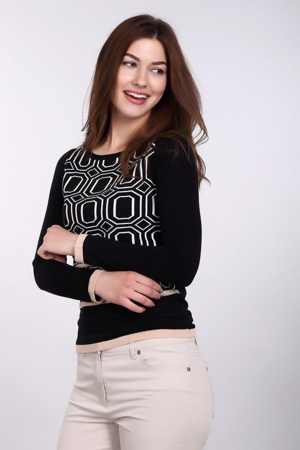 Пуловер PezzoПуловеры<br>Стильный женский пуловер от бренда Pezzo черного цвета с белыми и бежевыми деталями. Это изделие состоит из вискозы и нейлона. Данная модель предназначена для осени или весны. Пуловер немного облегает фигуру. Дополнен белым орнаментом и горизонтальными вставками. Отличный вариант на каждый день. Можно носить с низом любого фасона.<br><br>Размер RU: 50<br>Пол: Женский<br>Возраст: Взрослый<br>Материал: вискоза 70%, нейлон 30%<br>Цвет: Разноцветный