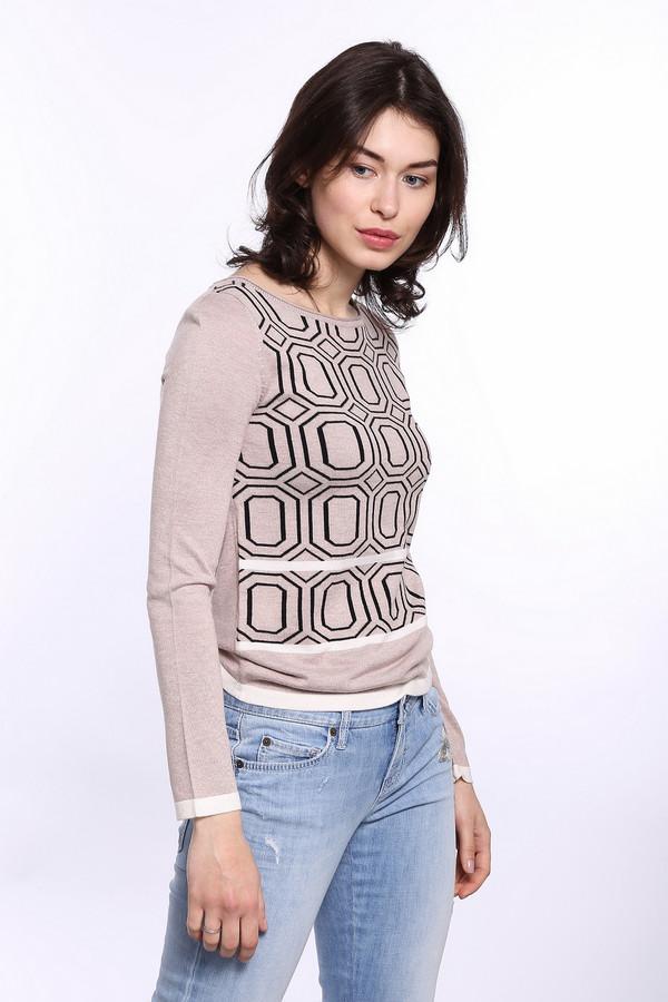 Пуловер PezzoПуловеры<br>Удобный женский пуловер от бренда Pezzo бежевого цвета с белыми и черными деталями. Это изделие состоит из вискозы и нейлона. Данная модель предназначена для осени или весны. Пуловер немного облегает фигуру. Дополнен черным орнаментом и горизонтальными вставками. Можно носить с низом любого фасона. Это универсальный вариант на каждый день.<br><br>Размер RU: 50<br>Пол: Женский<br>Возраст: Взрослый<br>Материал: вискоза 70%, нейлон 30%<br>Цвет: Разноцветный