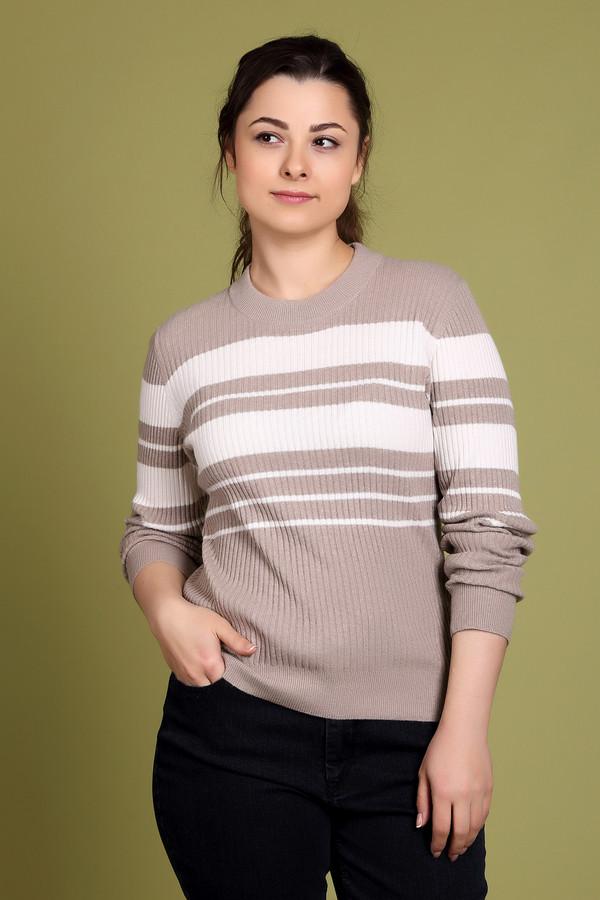Пуловер PezzoПуловеры<br>Стильный женский пуловер от бренда Pezzo бежевого цвета с белыми элементами. Данный образец состоит из вискозы, хлопка, кашемира, полиамида и шерсти. Эту вещь можно носить осенью или весной. Такая модель немного облегает фигуру. Украшен широкими горизонтальными белыми полосами. Придаст образу нежности и теплоты. Хороший вариант для любого мероприятия.<br><br>Размер RU: 50<br>Пол: Женский<br>Возраст: Взрослый<br>Материал: вискоза 33%, полиамид 23%, шерсть 20%, хлопок 20%, кашемир 4%<br>Цвет: Белый