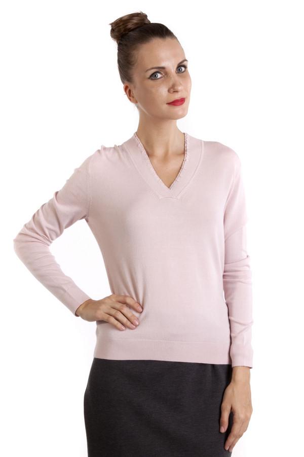 Пуловер PezzoПуловеры<br>Однотонный пуловер Pezzo приталенного кроя выполнен в светло-розовом цвете. Изделие дополнено v-образным воротом и длинными рукавами. Женственный пуловер идеально подойдет к повседневному образу.<br><br>Размер RU: 50<br>Пол: Женский<br>Возраст: Взрослый<br>Материал: вискоза 82%, нейлон 18%<br>Цвет: Розовый