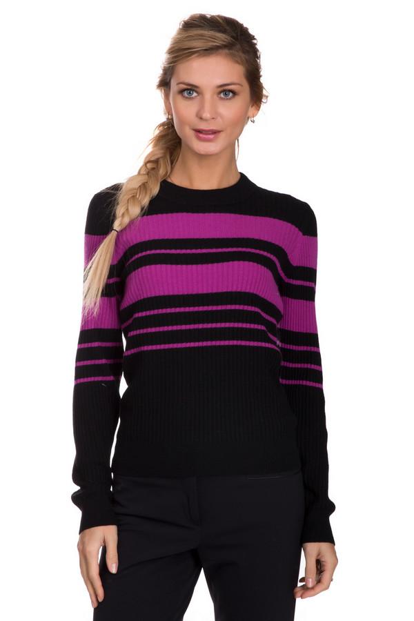 Пуловер PezzoПуловеры<br>Яркий женский пуловер от бренда Pezzo черного цвета с розовыми деталями. Эта модель состоит из вискозы, полиамида, шерсти, хлопка и кашемира. Изделие создано специально для осени и весны. Пуловер немного облегает фигуру. Украшен горизонтальными розовыми полосами. Придаст повседневному образу яркости и модности.<br><br>Размер RU: 46<br>Пол: Женский<br>Возраст: Взрослый<br>Материал: вискоза 33%, полиамид 23%, шерсть 20%, хлопок 20%, кашемир 4%<br>Цвет: Розовый