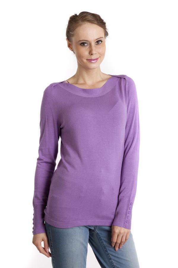 Пуловер PezzoПуловеры<br>Женский пуловер Pezzo прямого кроя сиреневого цвета. Изделие дополнено воротником-лодочка и длинными рукавами. Манжеты декорированы фурнитурой в цвет изделия.<br><br>Размер RU: 50<br>Пол: Женский<br>Возраст: Взрослый<br>Материал: вискоза 82%, нейлон 18%<br>Цвет: Сиреневый