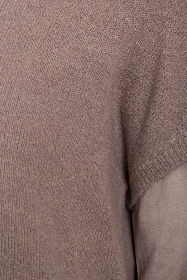 Пуловер с длинной спинкой