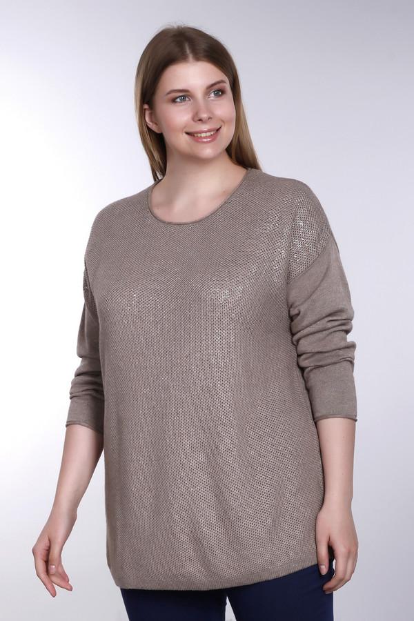Пуловер Via AppiaПуловеры<br>Изящный женский пуловер Via Appia бежевого цвета. Содержит в своем составе вискозу, шерсть и хлопок. Изделие подходит для межсезонья. Спереди модель дополнена нашивкой блестящей ткани того же цвета, что и основное изделие. Может отлично сочетаться с брюками, джинсами, классическими пиджаками. Придаст изящества образу.