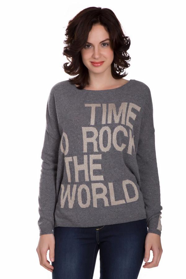 Пуловер MonariПуловеры<br>Молодежный женский пуловер Monari серого цвета с золотистыми деталями. Данная модель была изготовлена из полиамида, шерсти, вискозы и металла. Изделие было создано для осени и весны. Пуловер свободного кроя. Дополнен крупной надписью золотистым цветом и вставкой такого же цвета на рукавах. Придаст любому образу яркости и неповторимости.<br><br>Размер RU: 48<br>Пол: Женский<br>Возраст: Взрослый<br>Материал: полиамид 20%, шерсть 20%, вискоза 58%, металл 2%<br>Цвет: Золотистый