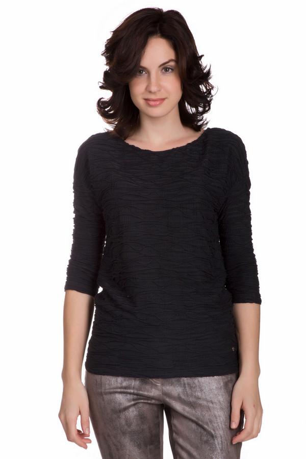 Блузa MonariБлузы<br>Оригинальная женская блуза Monari черного цвета. Это изделие состоит из вискозы и полиамида. Данная модель предназначена для осени и весны. Блуза немного облегает фигуру. Дополнена рельефными вставками. Рукава немного укорочены. Добавит в повседневный образ изысканности и элегантности. Лучше всего сочетается с юбками средней длины.<br><br>Размер RU: 46<br>Пол: Женский<br>Возраст: Взрослый<br>Материал: полиамид 26%, вискоза 74%<br>Цвет: Чёрный