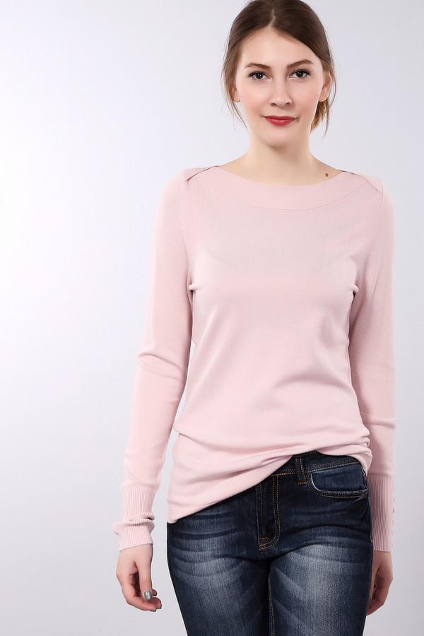 Пуловер PezzoПуловеры<br>Женский пуловер Pezzo прямого кроя нежно-розового цвета. Изделие дополнено воротником-лодочка и длинными рукавами. Манжеты декорированы фурнитурой в цвет изделия.<br><br>Размер RU: 48<br>Пол: Женский<br>Возраст: Взрослый<br>Материал: вискоза 82%, нейлон 18%<br>Цвет: Розовый