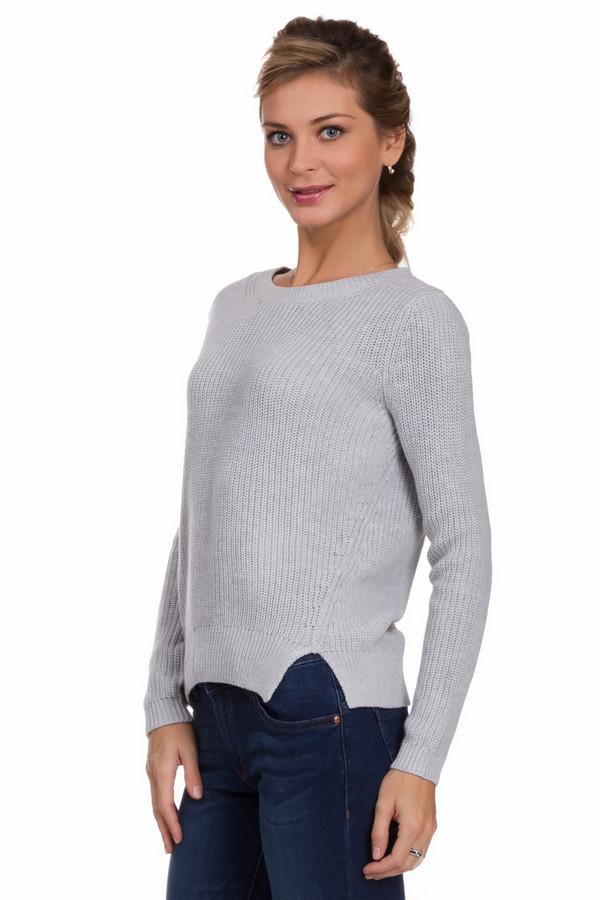 Пуловер Tom TailorПуловеры<br>Стильный женский пуловер Tom Tailor серого цвета. Это изделие было изготовлено из хлопка и полиакрила. Данная модель предназначена для осени и весны. Пуловер свободного кроя. Дополнен маленькими боковыми разрезами. Можно сочетать с юбками и брюками разных фасонов. Отличный вариант для повседневного образа.