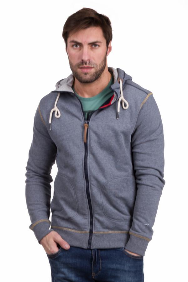 Толстовка Tom TailorТолстовки<br>Удобный мужской кардиган Tom Tailor серого цвета. Изготовлен из хлопка и полиэстера. Модель подходит для носки осенью и весной. Дополнен капюшоном, двумя втачанными карманами и узким коричневым кантом. Отлично сочетается с джинсами разных фасонов и футболками. Подойдет для создания спортивного образа.<br><br>Размер RU: 46-48<br>Пол: Мужской<br>Возраст: Взрослый<br>Материал: полиэстер 35%, хлопок 65%<br>Цвет: Серый