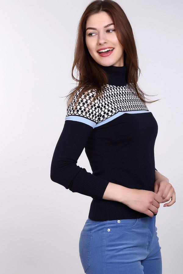 Водолазка PezzoВодолазки<br>Универсальная женская водолазка от бренда Pezzo синего цвета с белыми и голубыми деталями. Это изделие состоит из вискозы, нейлона и шерсти. Такая вещь рассчитана на зимний сезон. Водолазка немного облегает фигуру. Украшена орнаментом сверху и яркой голубой линией. Можно сочетать с одеждой разнообразных расцветок и фасонов.<br><br>Размер RU: 48<br>Пол: Женский<br>Возраст: Взрослый<br>Материал: вискоза 46%, шерсть 19%, нейлон 35%<br>Цвет: Разноцветный